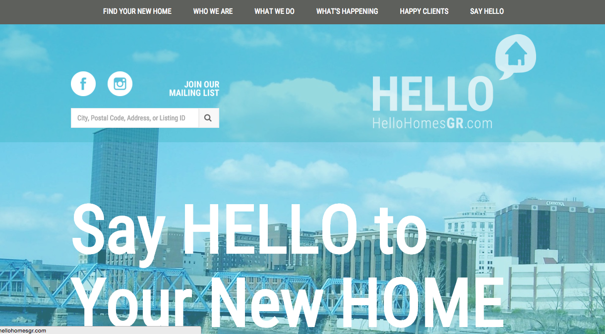 Hello Homes GR Website Header