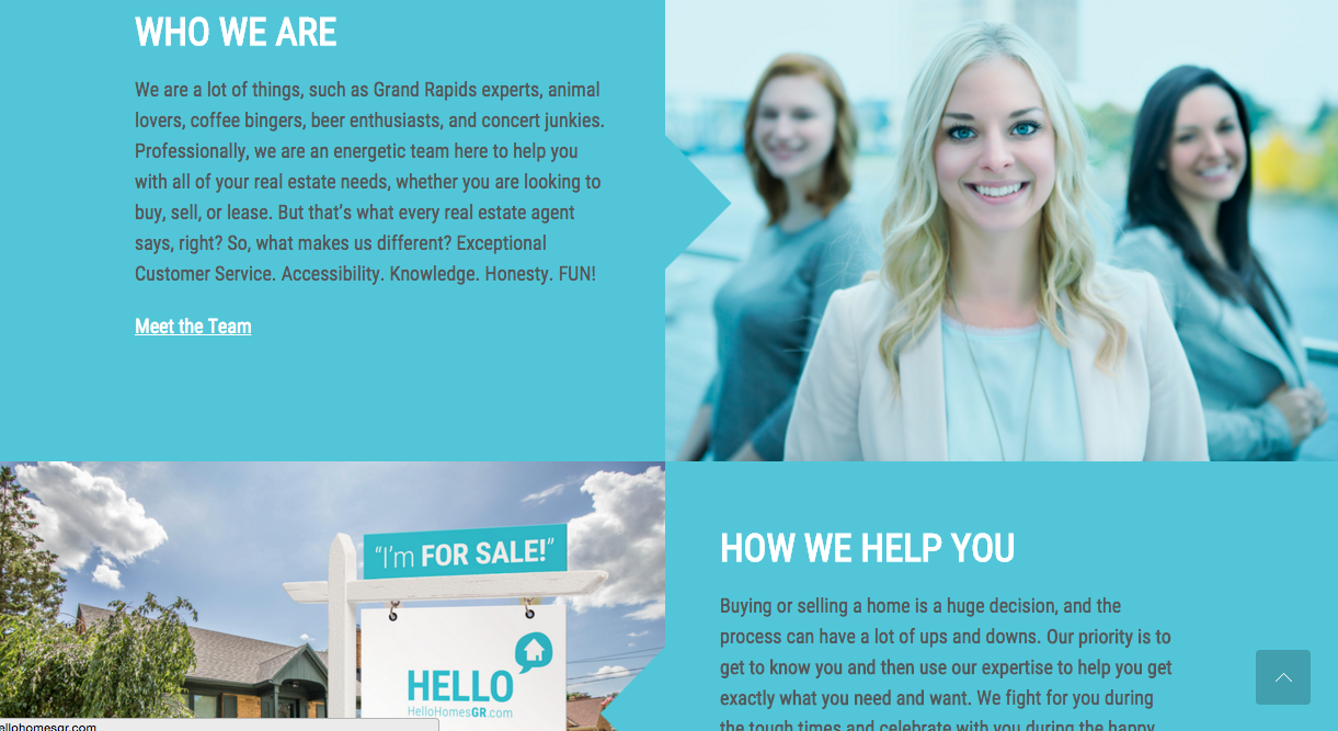 Hello Homes GR Homepage